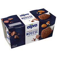 Mouse de chocolate y almendra ALPRO, pack 2x70 g