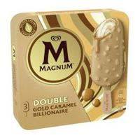 Bombón doble Gold Billionaire MAGNUM, pack 3x85 ml