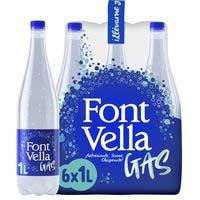 Aigua mineral amb gas FONT VELLA, ampolla 1 litre