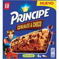 Barrita de cereales y chocolate PRINCIPE, caja 125 g