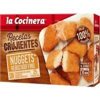 Nuggets familiar rebozado fino LA COCINERA, caja 400 g