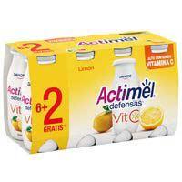 Beguda de llet de llimona vitamina C ACTIMEL pack, 8x100 g