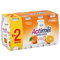 Beguda de llet de taronja vitamina C ACTIMEL, pack 8x100 g