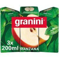 Zumo de manzana GRANINI, pack 3x20 cl