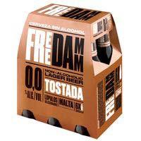 Cervesa torrada FREE DAMM, pack 6 ampolles 0,25l