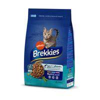 Aliment sec salmó, tonyina, verdures i cereals per a gat BREKKIES, sac 3,5 kg