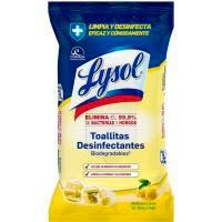 Tovalloletes cítric LYSOL, paquet 30 unitats