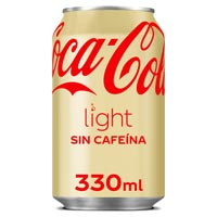 Coca Cola Light sense cafeïna llauna 33 cl