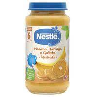 Nestlé PequeMerienda plàtan, taronja i galeta 250g