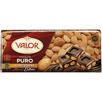 Valor Chocolate puro almendra 250g