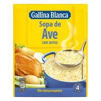Gallina Blanca Sopa d'au amb arròs 85g