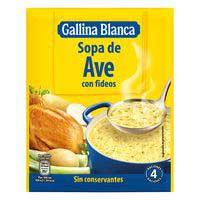 Gallina Blanca Sopa d'au amb fideus 80 g