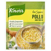 Sopa de pollastre amb fideus KNORR, sobre 63 g