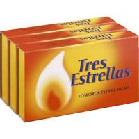 Tres Estrellas Cerillas largas pack 3 cajas