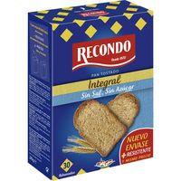 Recondo Pan tostado integral sin sal y azúcar 270g