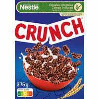 Cereales chocolateados NESTLÉ Crunch, caja 375 g