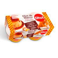 Flan de huevo original DHUL, pack 4x110 g
