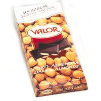 Valor Xocolata pur ametlles sense sucre 150g
