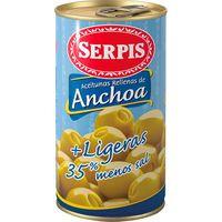 Serpis Aceitunas rellenas ligeras bajas en sal 150g