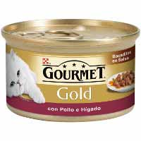 Gourmet Gold Comida gato pollo / hígado 85g