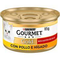 Gourmet Gold Menjar gat pollastre / fetge 85g