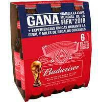 Cervesa americanaBUDWEISER,packbotellín6x25cl