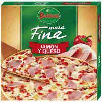 Pizza massa fina pernil i formatge BUITONI 320g