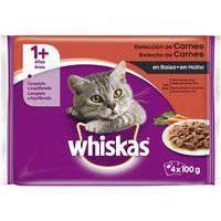 Whiskas Comida gato carne en salsa +1año 4x100g