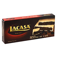 Turrón de praliné-café LACASA, caja 225 g