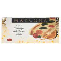 Torró de massapà amb fruites MARCONA, caixa 300 g